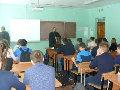 Священник встретился со школьниками р.п. Чаадаевка