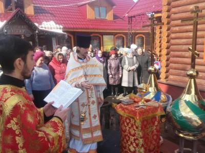В Бессоновке состоялось освящение куполов строящихся часовен