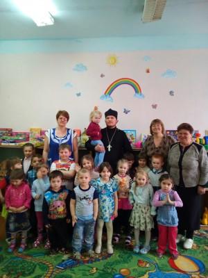 Состоялась встреча священника с воспитанниками детского сада села Елизаветино