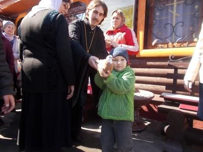 В храме св. вмч. Георгия Победоносца села Бессоновки отметили Праздник Благовещения Пресвятой Богородицы