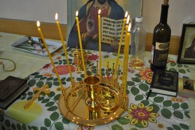 В Комплексном центре социального обслуживания населения Каменского района состоялось таинство Елеосвящения