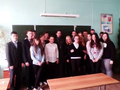 Священник встретился с учащимися общеобразовательной школы № 61 города Пензы