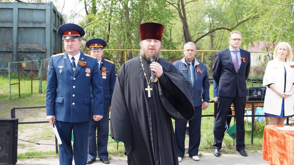 Священник принял участие в торжественном митинге, посвященном 71-й годовщине Великой Победы
