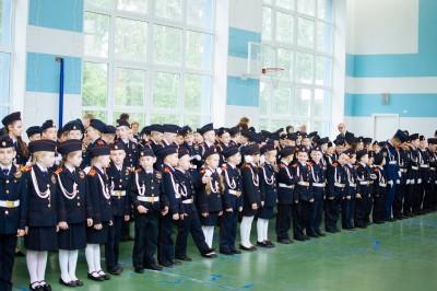 В общеобразовательной школе № 226 г. Заречного состоялась церемония посвящения первоклассников в кадеты