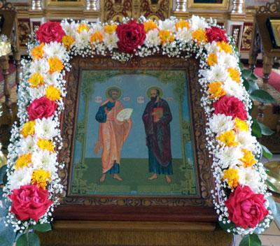 Праздник славных и всехвальных первоверховных апостолов Петра и Павла отметили в Никольском храме Пензы