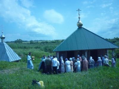 Молебен на источнике Казанской иконы Божией Матери в с. Царевщино