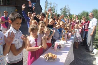 В день празднования Успения Божией Матери в Никольском храме мкр. Ахуны состоялся праздник для детей