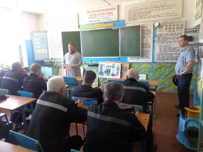 Протоиерей Владимир Кувшинов посетил осужденных на территории ИК-4