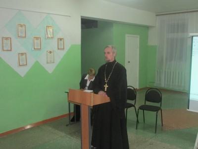 В Мокшане священник принял участие в родительском собрании