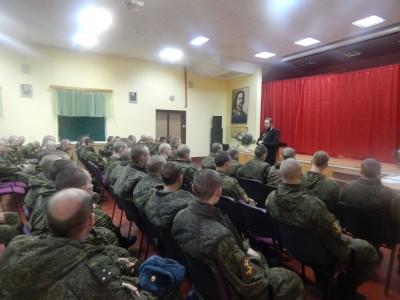 Протоиерей Дионисий Соловьёв встретился солдатами воинской части на станции Леонидовка