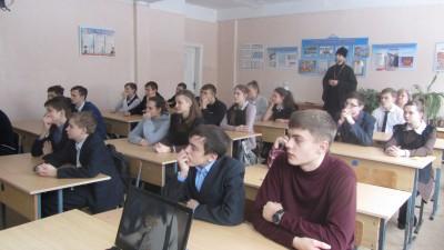 Священник встретился с учащимися средней общеобразовательной школы села Чемодановка