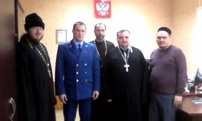 Состоялась встреча духовенства Пензенского района с главным прокурором Пензенского района Синицыным И. В.