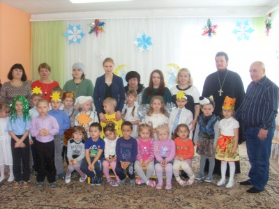 Священник Александр Черных посетил воспитанников мокшанского детского сада «Золотая рыбка»