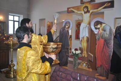 Благочинный Каменского округа совершил чин освящения новосооруженного Креста