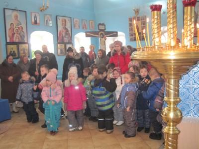 Воспитанники детского сада города Городище приняли участие в Литургии