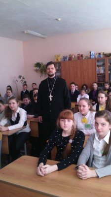 Иерей Сергий Беляков встретился с учащимися школы № 60 г. Пензы