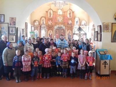Празднование Благовещения Пресвятой Богородицы в селе Нечаевка