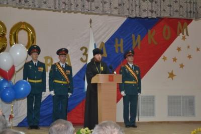 Священнослужитель поздравил военнослужащих и ветеранов с 80-ти летием со дня основания воинской части 21222