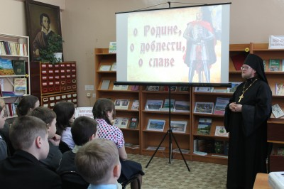 Благочинный Нижнеломовского округа провёл открытый урок, посвященный 775-й годовщине Ледового побоища