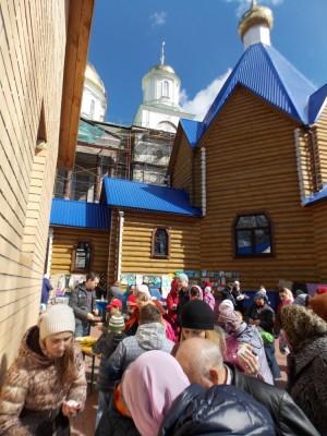 На приходе Архиерейского подворья Спасского кафедрального собора прошел Пасхальный праздник