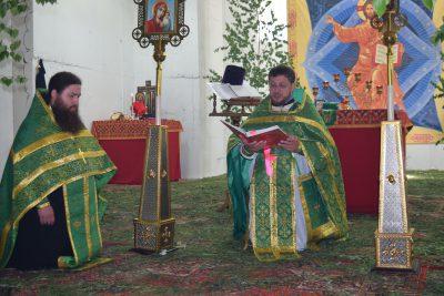 Празднование дня Святой Троицы в городе Заречном