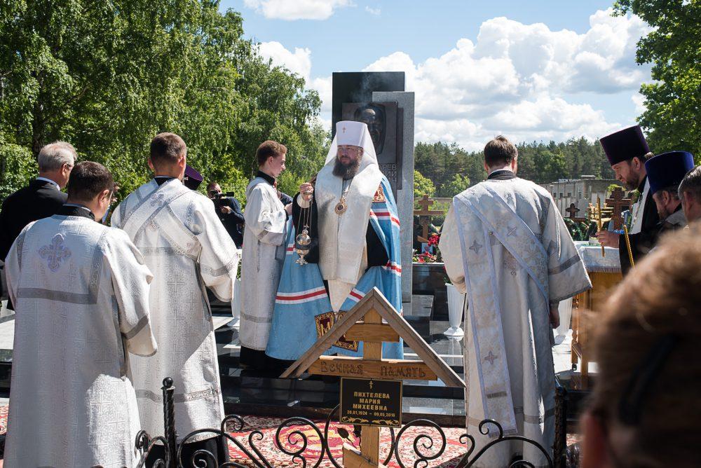 Митрополит Серафим совершил заупокойную литию на могиле Василия Бочкарева