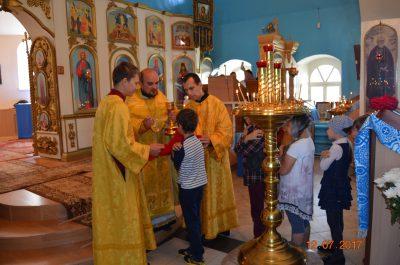 Покровский храм посетили воспитанники детских садов и пришкольного лагеря города Городище