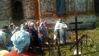 В селе Скворечном Каменского района совершили литию по протоиерею Алексию Любимову