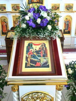 В день празднования Рождества Пресвятой Богородицы благочинный Каменского района совершил Литургию в Димитриевском храме г. Каменки