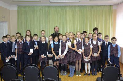 Священник Андрей Поляков встретился с учащимися гимназии №66
