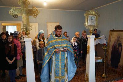 Божественная литургия в молитвенном доме Свято-Ольгинской общины с. Серп и Молот