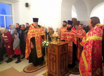 Канун престольного праздника в храме вмч. Димитрия Солунского г. Каменки