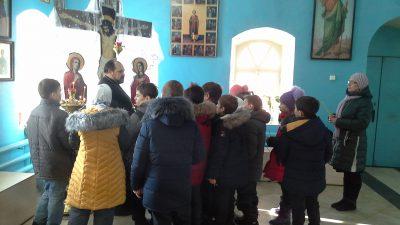 Священник провел экскурсию для учащихся МБОУ НОШ г. Городище