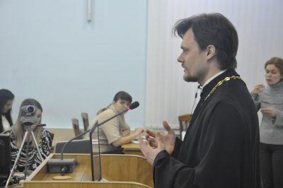 Священник рассказал о социальной деятельности Пензенской епархии вПензенском государственном университете