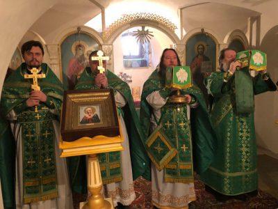 В день памяти преподобного Серафима Саровского в Успенском кафедральном соборе отметили престольный праздник нижнего храма