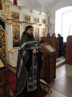 Уставное богослужение первой седмицы Великого поста в Димитриевском храме г. Каменки