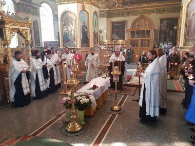 Состоялось прощание со старейшей сотрудницей Успенского собора Ниной Ефимовной Просвирниной