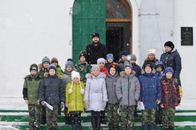 Митрофановский храм г. Пензы посетили с экскурсией учащиеся Кадетской школы №46