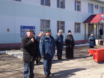 Председатель епархиального отдела по тюремному служению принял участие в торжественном митинге, посвященном юбилею ИК №4