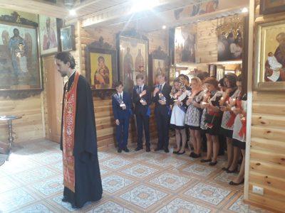 Молебен перед началом сдачи экзаменов совершили в храме в честь св. вмч. Георгия Победоносца в селе Бессоновка
