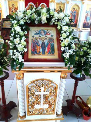 Всенощное бдение в канун праздника Вознесения Господня в Димитриевском храме г. Каменки