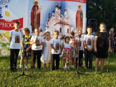 Празднование дня памяти святых Петра и Февронии Муромских в селе Бессоновка