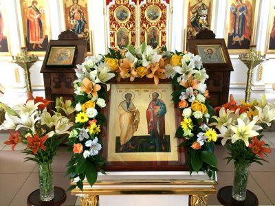 Канун дня памяти апостолов Петра и Павла в Димитриевском храме города Каменки