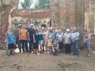 Представители Союза православной молодежи земли Пензенской совершили труднический выезд в село Кучки