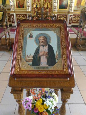 Праздник обретения мощей преподобного Серафима Саровского в Никольском храме в Терновке
