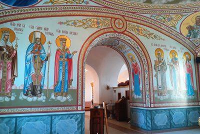 В Димитриевском храме г. Каменки закончились работы по росписи четверика