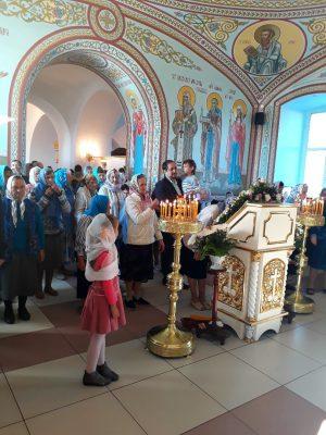 Праздник Рождества Пресвятой Богородицы в Димитриевском храме города Каменки