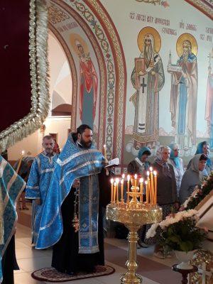 Канун Рождества Пресвятой Богородицы в Димитриевском храме города Каменки