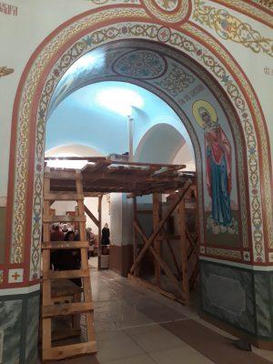 В Димитриевском храме Каменки начались работы по росписи центрального нефа