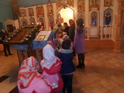 Покровский храм города Городище посетили воспитанники детского сада «Семицветик»